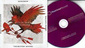 MERZBOW-THURSTON-MOORE-Cuts-Of-Guilt-Cuts-Deeper-2015-UK-4-trk-promo-2CD