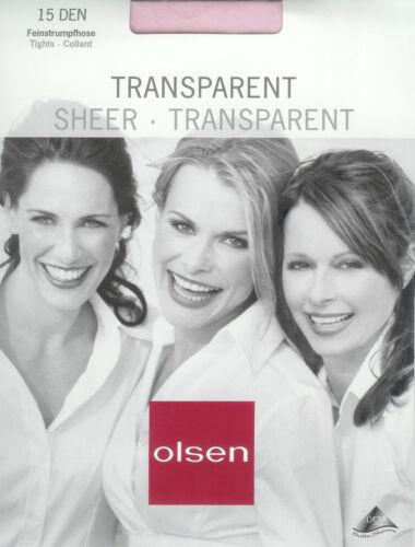 46-48 * Olsen * 15den 2 toque fino simplicidad pantimedias transparente Rose