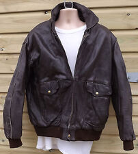 Vintage Heavy Brown Leather A2 Flying / Pilot / Aviator Jacket - XL