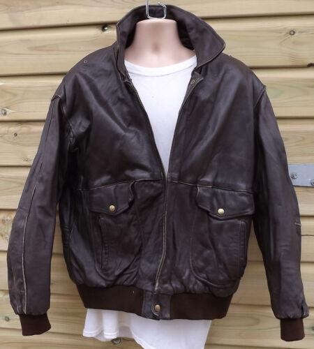 pilotepilote A2 en VintageXL Veste marron cuir épais aviateur cl31TFKJ