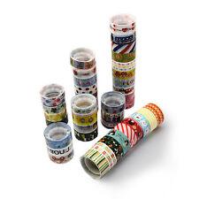5 Craft Washi Tape 15mm x 2.5m Decorative Scrapbooking Self Adhesive (BOX136)