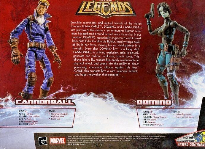 CANNONBALL & DOMINO ( WALMART ONLY ONLY ONLY ) VHTF ( 2007 ) MARVEL LEGENDS azione cifraS cf2a44