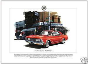 American Classics - 1963 BUICK RIVIERA - Fine Art Print - US Personal Luxury Car