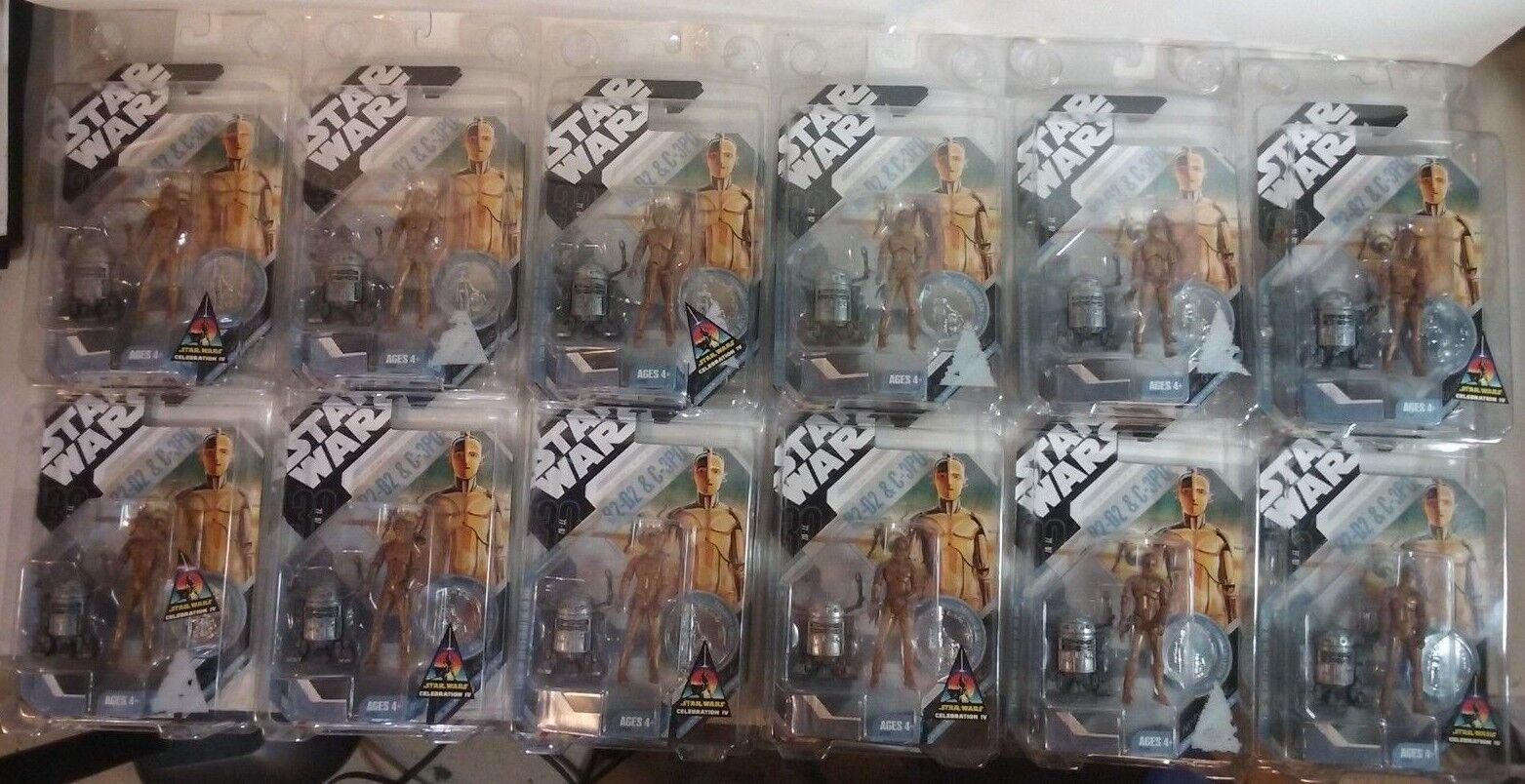 Star Star Star Wars Celebration IV Ralph Mcquarrie Concept R2-D2&C-3PO Figures Case of 12 d9a7e1