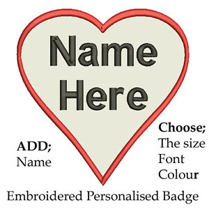 Valentines-Heart-Embroidered-Personalised-Badge-Text-Name-Iron-or-Sew-On-Love