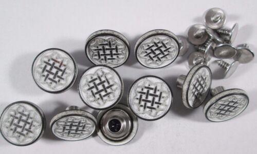 Jeans Bouton 10 Pièce avec Rivets Blanc foncé avec motif boutons 18 mm #581#