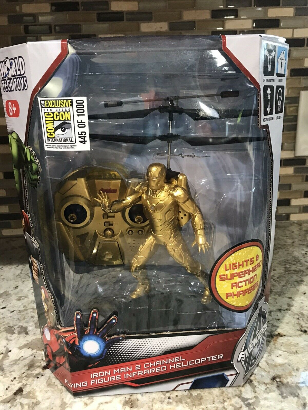 Avengers Avengers Avengers Iron Man 2 Channel Flying Figure Comic Con Exclusive 445 RC Helicopter 92c
