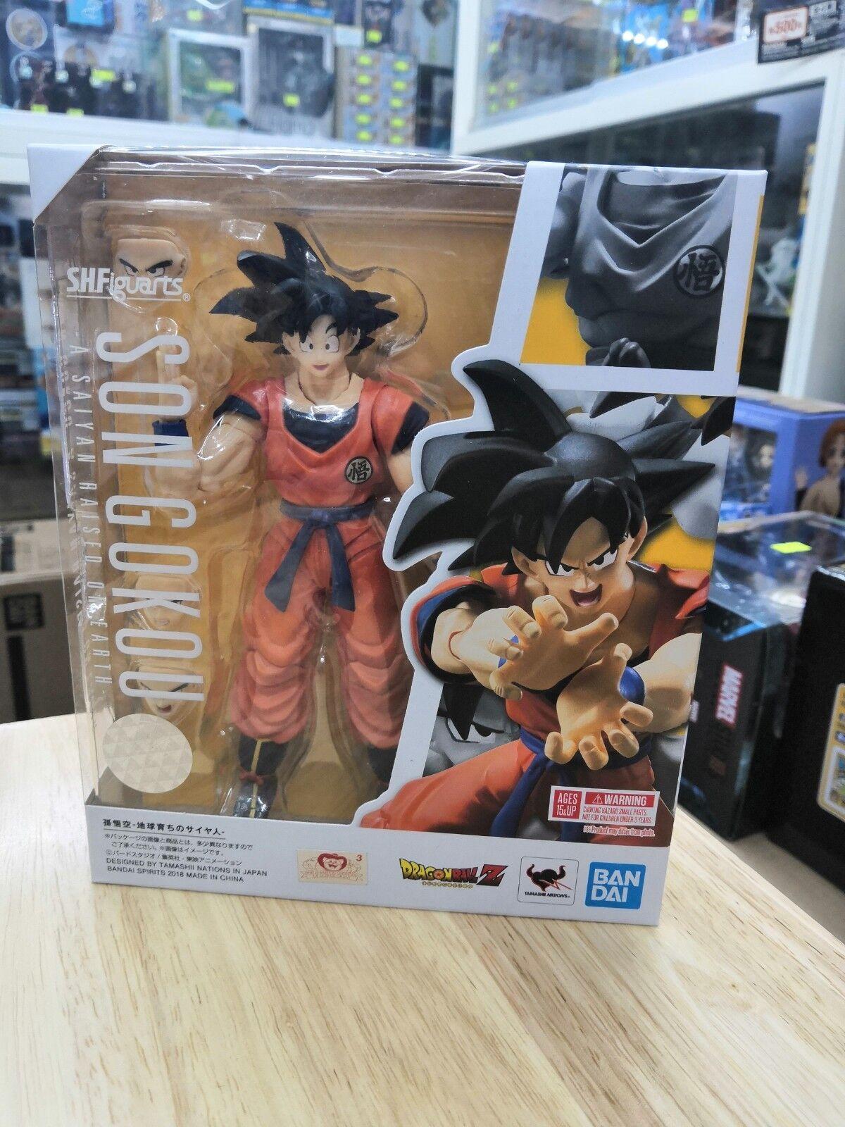 Bandai Bandai Bandai S.H.Figuarts Dragonball Z Son Gokou A Saiyan Raised on Earth Brand New   9f0c7b