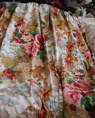 Freundschaftlich Zoffany Vorhänge 2 Schals Rosen Sehr Gut Erhalten Einfach Zu Schmieren