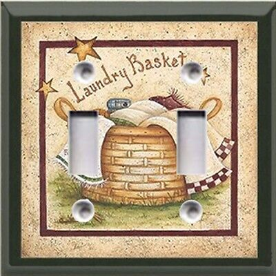 Laundry Basket  Light Switch Cover~Home/Room Decor~ Choose Your Plate~
