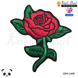 Red-Rose-Flower-Embroidered-Iron-On-Sew-On-Patch-Badge-For-Clothes-etc
