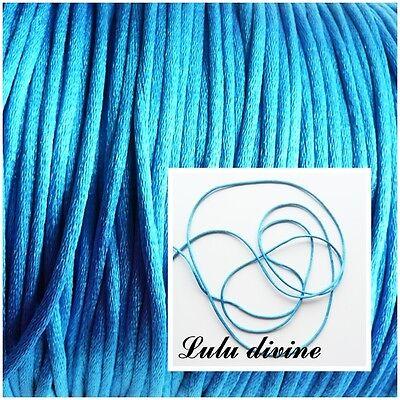 couleur : Bleu mar 3 m Shamballa Attache tétine Cordon // Fil polyester 2 mm