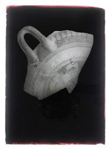 Foto-un-Frammento-di-un-Vaso-Antico-Targa-Lente-N1-Negativo-Ca-1920
