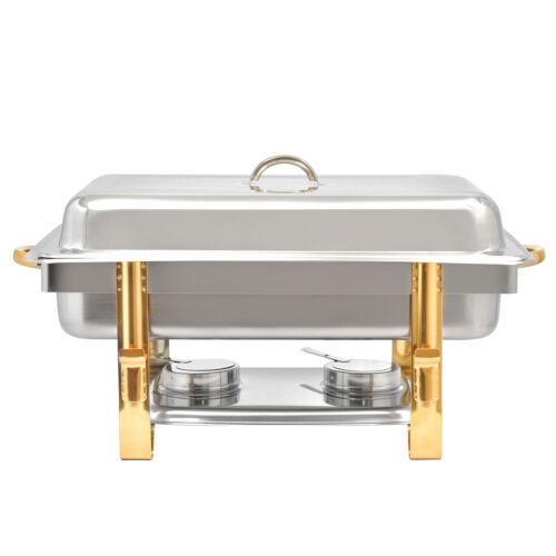 1//1GN-Behälter Warmhaltebehälter Stapelbarer Speisenwärmer 9L Chafing Dish incl