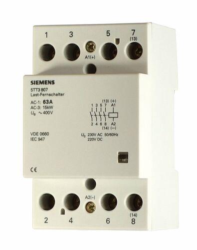 Siemens 5TT3807 Contactor INSTA Schütz 63A AC 230 DC 220V 63A 4S