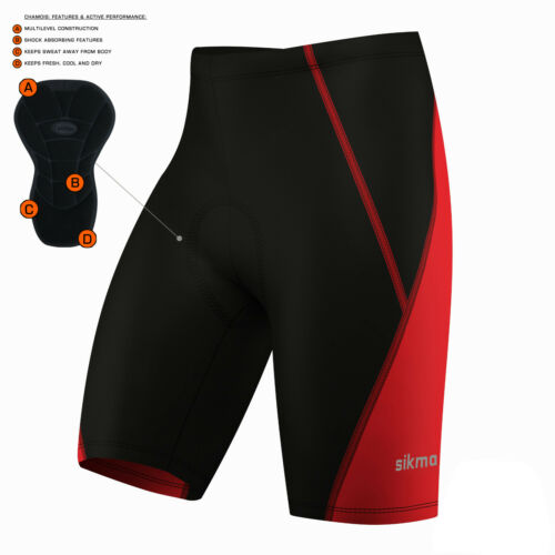 Cycling Shorts 3D Anti-Bac Padding All Day Men MTB Bike Shorts race fit Sikma