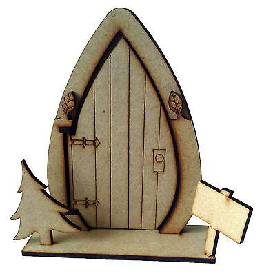 50 x 3D Opening fairy door  with tree wooden craft blank / shape - Elf door