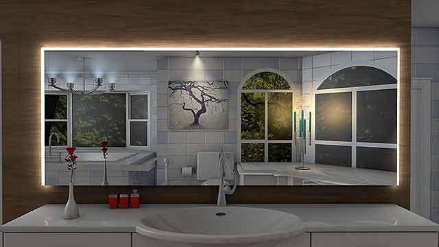 Badspiegel Laon mit LED Beleuchtung Badezimmerspiegel Bad Spiegel Wandspiegel