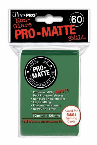 PRO MATTE SMALL Green Verde Buste Deck 60 Bustine Protettive Ultra PRO Yu-Gi-Oh