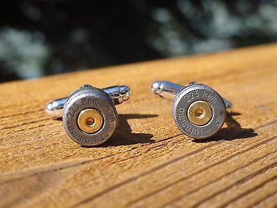 Brass 5.56 x 45 mm NATO Ammo Cufflinks