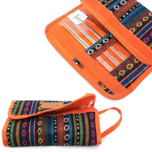 Picnic Bag Camping Cutlery Chopsticks Storage Bag Ethnic Style Portable Outdoor