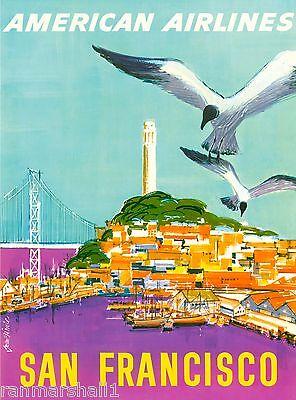 San Francisco California III Vintage United States Travel Advertisement Poster