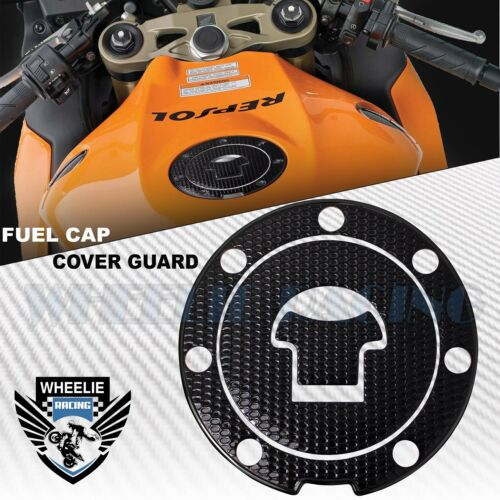 BLACK&GLOSSY GAS TANK FUEL CAP COVER PROTECTION GUARD PAD 03-16 CBR-1000RR/600RR
