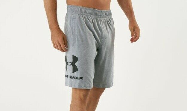Under Armour Sportstyle Graphic Steel Light Heather Loose Gray Shorts S Men