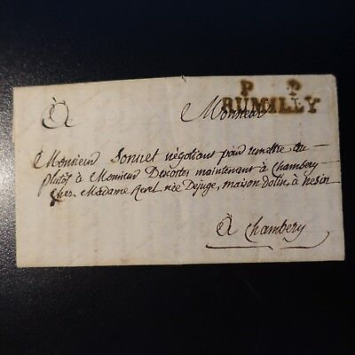 1838 Lettre Cover Marque Postale Pp Rumilly -> ChambÉry Quell Summer Thirst