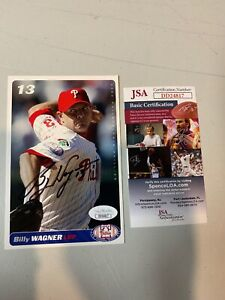 Billy-Wagner-Autograph-Signed-Phillies-2004-4x6-Card-JSA