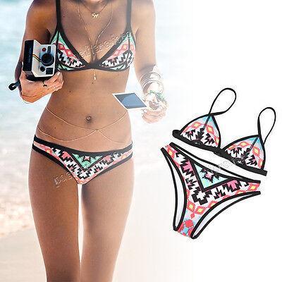 Women Push Up Padded Bra Bandage Bikini Set Swimsuit Triangle Swimwear Bathing