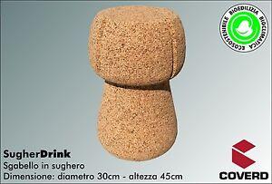 Sgabello in sughero sugherdrink a forma di tappo da champagne cm