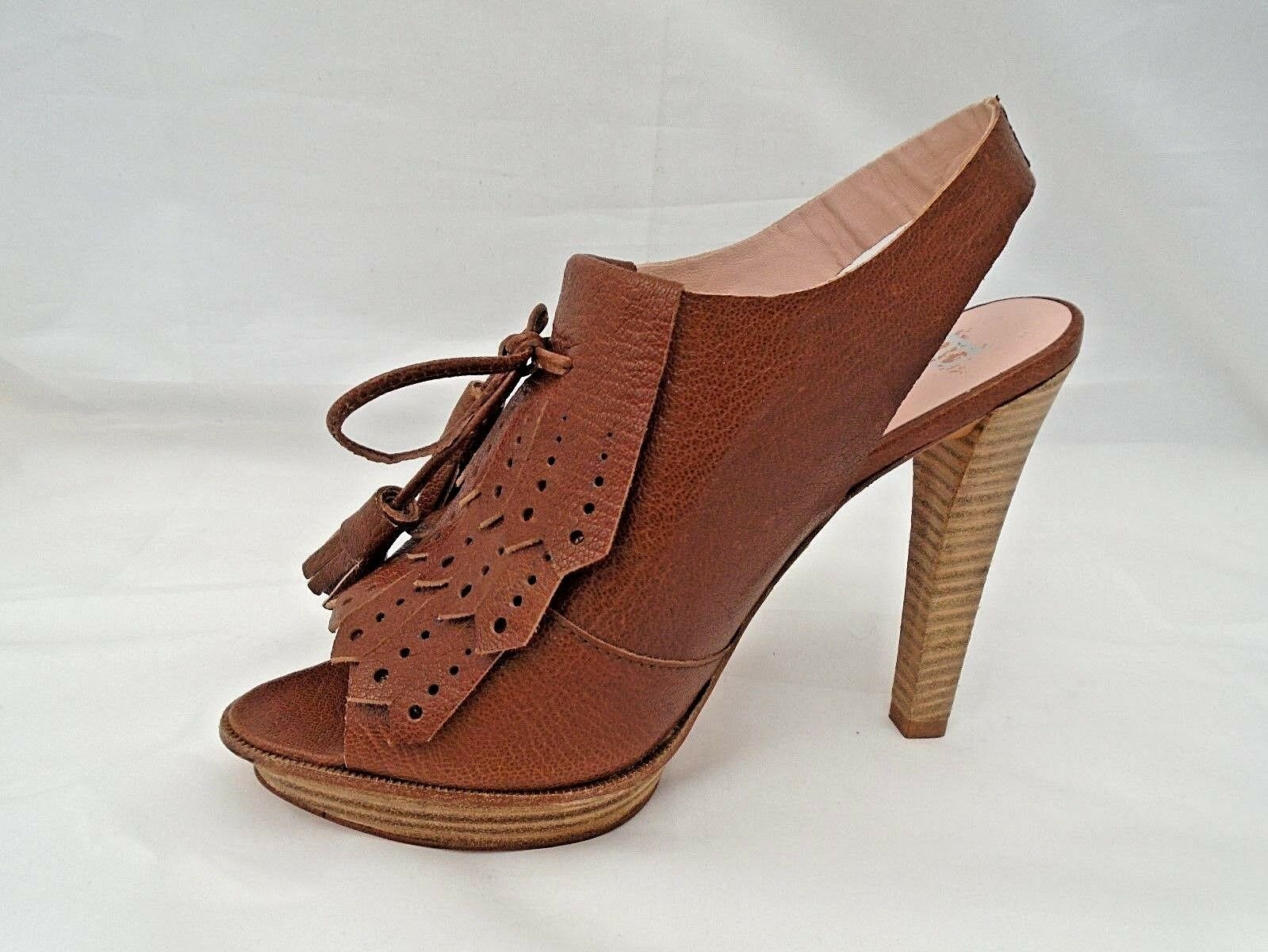 PACO GIL LADIES BROWN GRAINED LEATHER CASUAL HEELS SANDALS DamenschuheS UK 7 - EUR 40