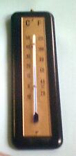 Analog Buche Echtholz Zimmerthermometer 18,5 cm schwarz, Thermometer C+F