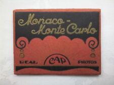 MONACO.MONTE CARLO.MINI PHOTOGRAPH SET,10 REAL CAP DELUX,NEW,1940-50 ?.LA TURBIE