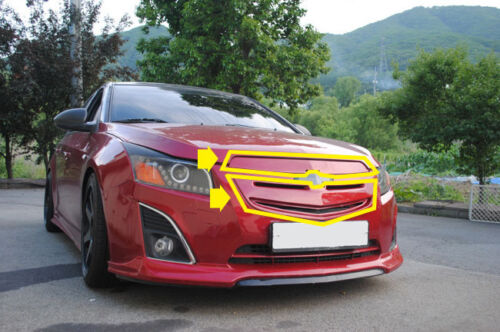 Front Top /& Bottom Tuning Grill PAINTED GAR For 13 14 15 Chevrolet Chevy Cruze