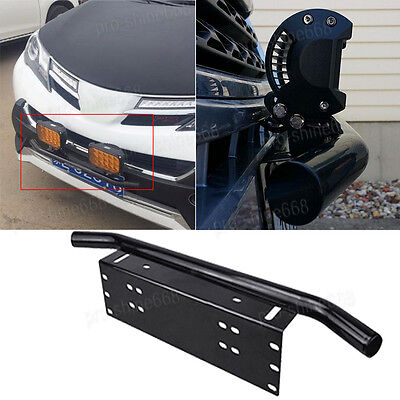 Bar Front Bumper License Plate Mount Bracket Led Work Light Holder OffRoad SUV g