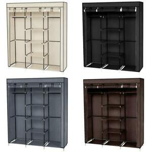 High-Quality-69-034-Portable-Closet-Wardrobe-Clothes-Storage-Organizer-w-Shelf