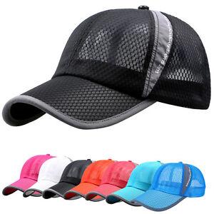 Liso-Color-Golf-Gorra-Beisbol-Verano-Deporte-Curvo-Visera-Sombrero-De-Hombre
