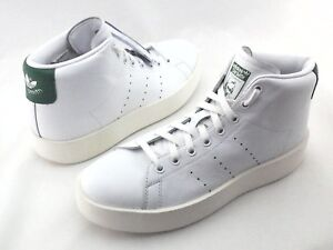 2427fafb664 ADIDAS Stan Smith Platform Bold Mid Shoes White Green Leather BY9663 ...
