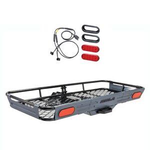 ROLA-Basket-Style-Cargo-Carrier-Trailer-Hitch-Mount-amp-10-Diode-LED-Light-Kit