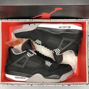 quality design cb04e 44bd1 Image is loading Nike-Air-Jordan-Retro-IV-Bred-Size-9-