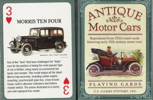 Antique Motor Cars Playing Cards NEW 54 Sealed Deck Color Bios Reproduction art
