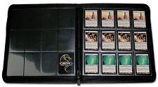 2 Black 12 Pocket Card Z Folio 480 LX Premium Binders MTG Card Storage Playset