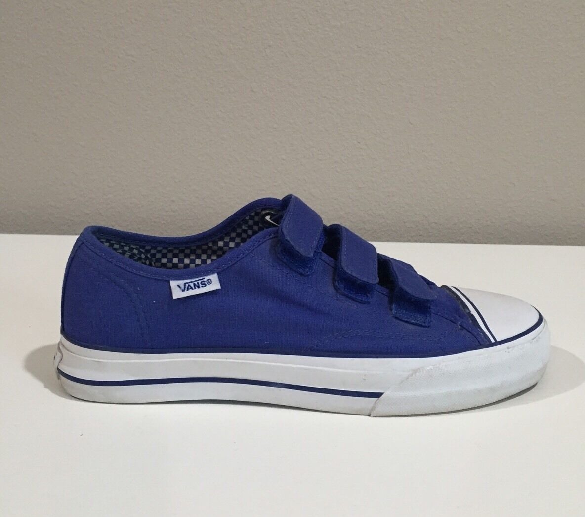 Vans Women's Prison Issue Blue Canvas Shoe Size 7.5 *Rare*