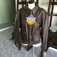 Brand Cooper A-2 Flight Us Air Force Bomber Leather Goatskin Jacket 46r Xl