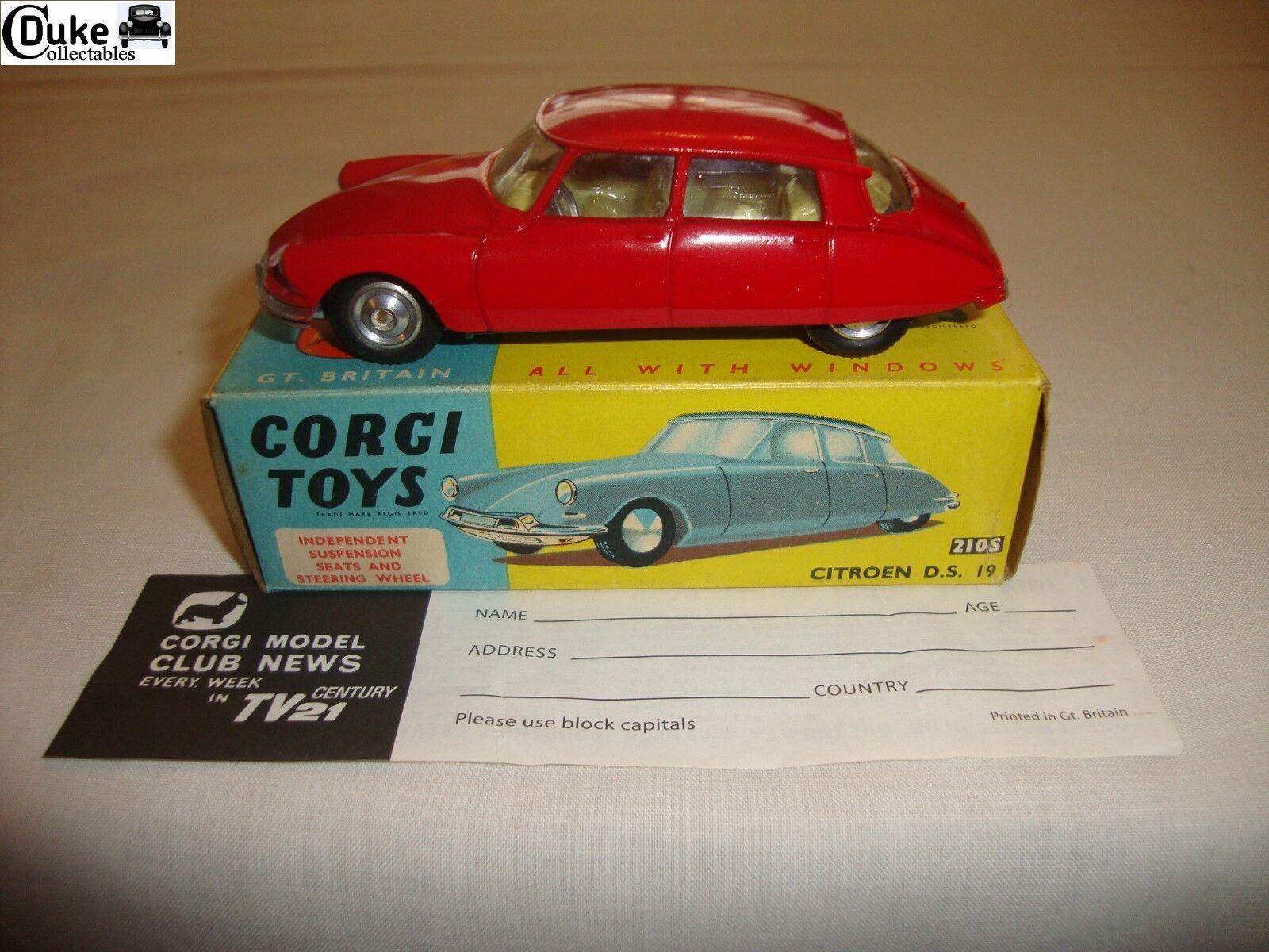 CORGI 210 S CITROEN DS19-nr Comme neuf in original box