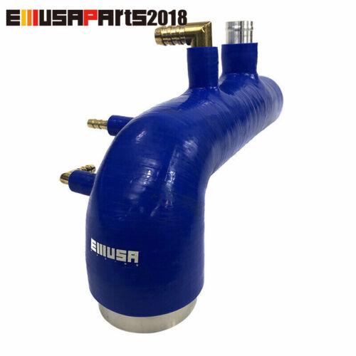 EMUSA Blue Silicon Turbo Inlet Induction Hose 02-07 Sb Wrx 04-14 STI EJ20//25