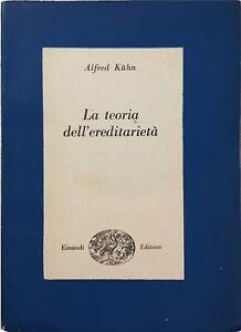 LA-TEORIA-DELL-039-EREDITARIETa-Alfred-Kuhn-EINAUDI-1945