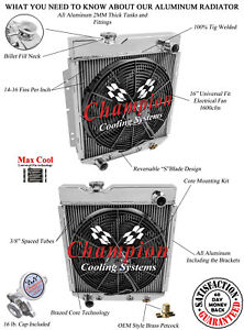 1963 1964 1965 Ford Ranchero Champion 4 Core Aluminum V8 Conversion DR Radiator
